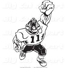 tiger clipart football player pencil and in color tiger clipart