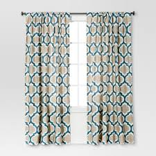 Blue Ikat Curtain Panels Ikat Curtain Panel Blue Threshold Target