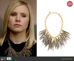 wornontv jeannie u0027s spiked necklace on house of lies kristen