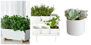 modern planters and pots sleek modern planters from crate barrel plantnd style with twist