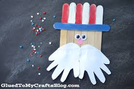popsicle stick uncle sam kid craft