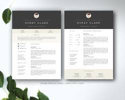 Word Resumes Templates Resume Template For Ms Word Resume Templates Creative Market