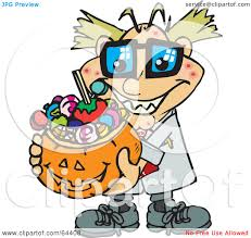 halloween basket royalty free rf clipart illustration of a trick or treating mad