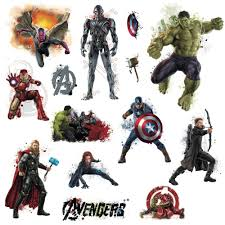 roommates avengers age ultron peel and stick avengers age ultron peel and stick wall decal rmk scs the home depot