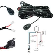 12v led light bar led light bar wiring harness kit 180w 12v 40a fuse relay on off