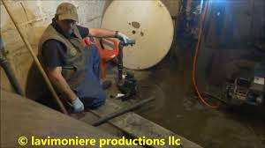 sump pump replaced in basement boiler room youtube