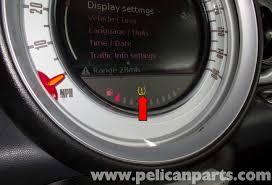tire pressure warning light mini cooper r56 tire pressure monitoring 2007 2011 pelican parts