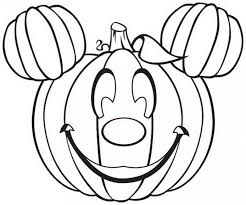 halloween disney pumpkin coloring pages hallowen coloring pages