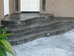Steps Design by Concrete Flooring Home Design By John