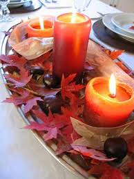 Floating Candle Centerpiece Ideas Candle Centerpiece Ideas Table Decoration With Fall Leaves And
