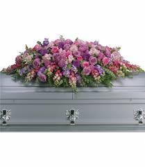 casket sprays lavender tribute casket spray by teleflora t235 2a