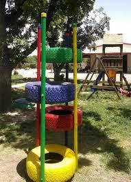 giochi da cortile gioco da giardino per bambini con pneumatici riciclati riciclo