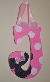 glitter pink white polka dot minnie mouse inspired decorative wall