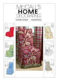 sewing pattern for chair covers six styles mccall u0027s pattern 4404