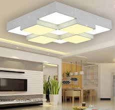 Ceiling Lights For Living Room by Online Cheap Led Ceiling Geometric Squares Iron Grids Living Room