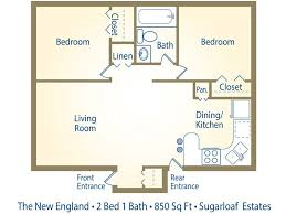 2 bedroom 1 bath floor plans 2 bedroom 1 bath apartments bedroom at estate
