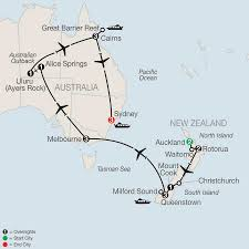 Australian Outback Map Great Barrier Reef Tours Globus Escorted Travel