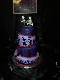 topsy turvy nightmare before christmas wedding cake cakecentral com