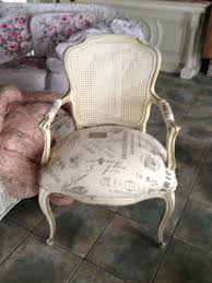 vintage hollywood chair french script fabric chairs pinterest
