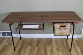 Office Desk With Keyboard Tray Whimsical Reclaimed Wood Desk Office Desk Shown With