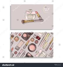 makeup artist business card vector template stock vector 384233380