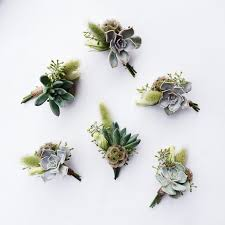 wedding flowers cities rustic succulent boutonnieres studio fleurette cities