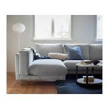 nockeby sofa hack nockeby sofa with chaise left tallmyra tallmyra wood rust wood