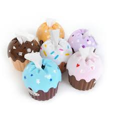 wholesale new lovely adorable ice cream useful cupcake tissue box