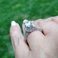 moissanite vintage engagement rings vintage moissanite engagement rings jewelry