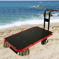 Rolling Beach Chair Cart Beach Carts With Big Wheels Fishing Carts And Wagons