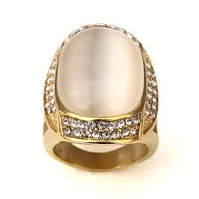 aliexpress buy nyuk gold rings bling gem nyuk big gem with rhinestone gold bling ring men gift hip