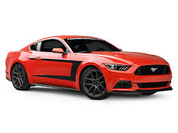 Black Mustang Stripes American Muscle Graphics Mustang Matte Black Side Stripes 388796