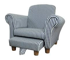kids childrens toddler striped fabric chair armchair with hastac