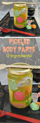 pickled body parts halloween treat