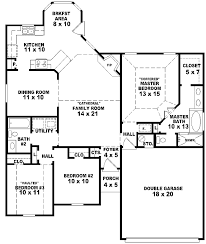 floor plans for small houses with 3 bedrooms 654060 one story 3 bedroom 2 bath french style house plan