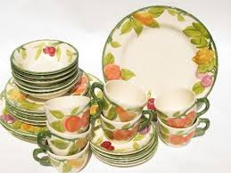 franciscan dishes fresh fruit vintage usa franciscan pottery dishes plates bowls cups