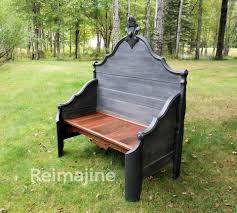 diy bed to bench by jill andrea