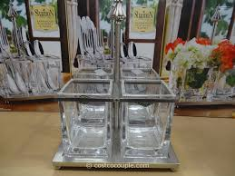 furniture charming glass utensil caddy ideas