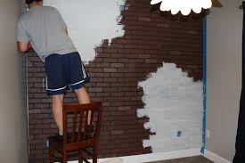interior walls home depot the delightful images of diy faux brick accent wall faux antique