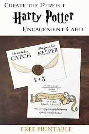 harry potter diy engagement and wedding card bugaboocity