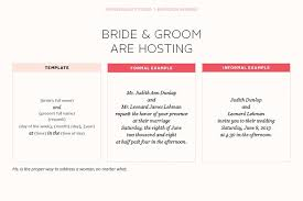 informal wedding invitations informal wedding invitation wording and groom hosting