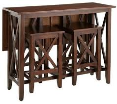 Folding Bar Table Kenzie Breakfast Table Set Contemporary Indoor Pub And Bistro
