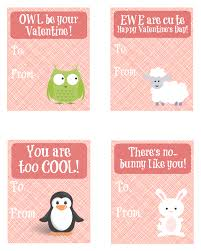 cute animal valentine u0027s day cards free printable