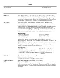 Best Marketing Manager Resume by Bar Manager Resume Sample Resume Examples Military Resume Template