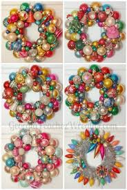 how to make a wreath out of vintage ornaments