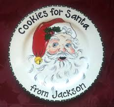 santa s cookie plate brush stroke plates