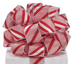 wired ribbon 9 candy stripe wired ribbon