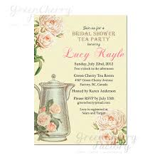 baby shower invitations tea party theme free printable
