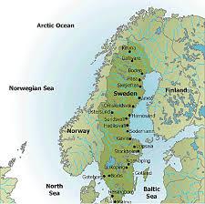 map of sweden map of sweden