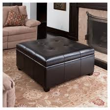 canyons bonded leather storage ottoman espresso christopher